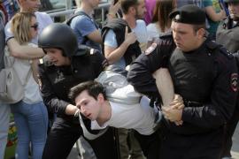 Más de 1.200 detenidos en Rusia en una protesta ante la investidura de Putin
