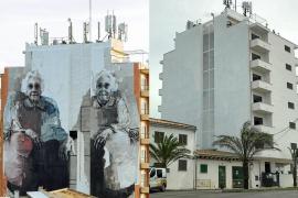 El borrado de un mural del artista urbano Bosoletti causa polémica en Can Picafort
