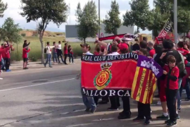 Espectacular recibimiento al Real Mallorca