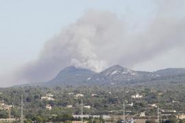 Estabilizado el incendio en el Puig de Randa