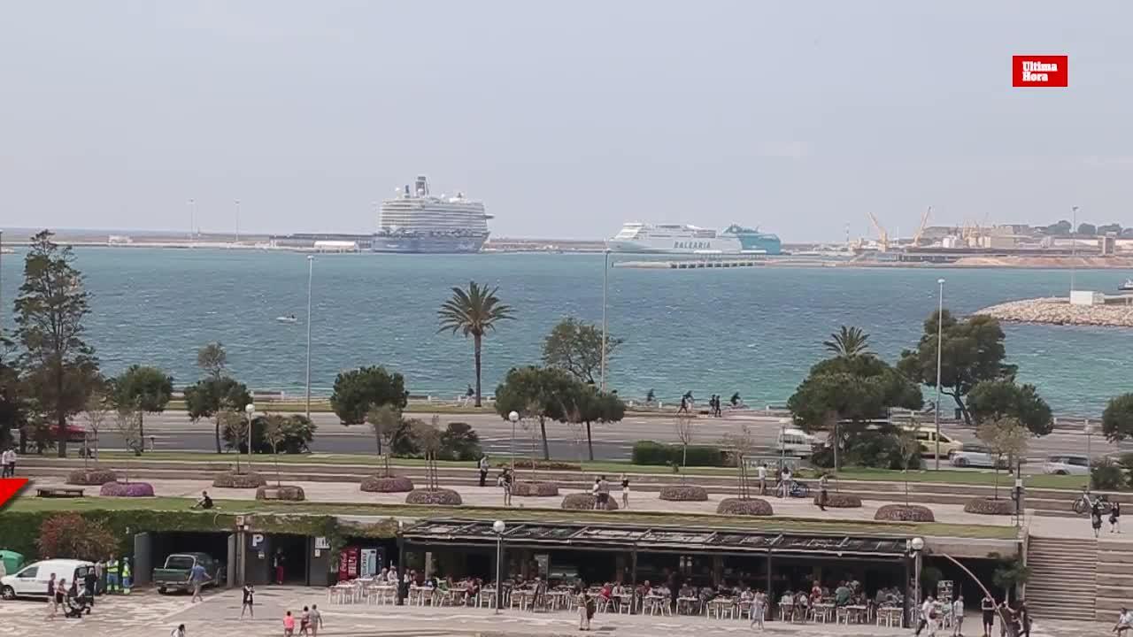 Piden limitar a dos al día los cruceros en Palma y quintuplicarles la ecotasa