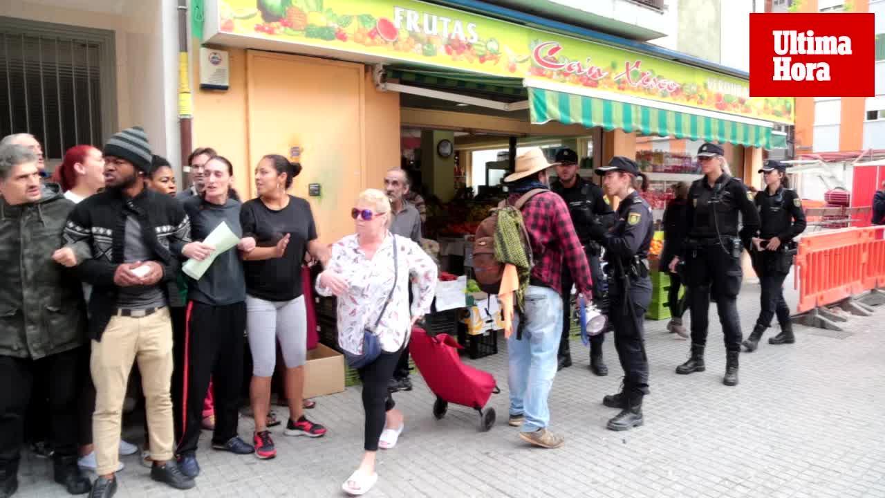 Logran paralizar el desahucio de una mujer y sus tres hijos en Palma