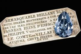 Sotheby's subasta el histórico diamante azul de la reina Isabel de Farnesio