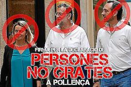 Iniciativa popular para declarar personas no gratas a Salom, Rajoy y José Ramon Bauzá