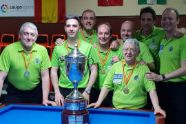 La Associació Billar Palma, campeona de España