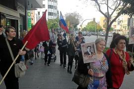 Miembros de la colonia rusa en Mallorca conmemoran el 73 aniversario de la victoria sobre los nazis