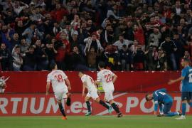 El Sevilla gana a un Real Madrid al que no le bastó su reacción final