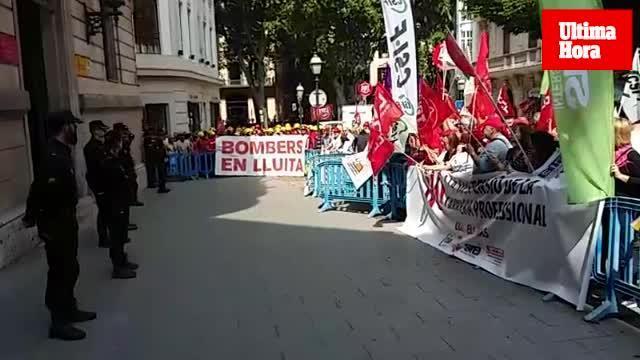 Protesta en Palma contra el recurso de la Delegación de Gobierno a la carrera profesional
