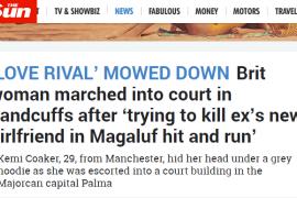 Los medios británicos se hacen eco del atropello de una mujer en Calvià