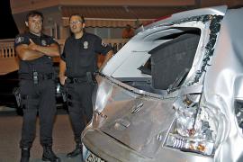 Detenido un conductor ebrio por otro accidente en la calle de sa Vileta donde murió la niña