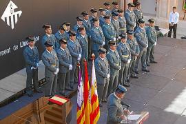 La Guardia Civil de Andratx y Llucmajor rinde honores a la Virgen del Pilar