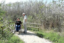 Adaptan el intinerario del parque natural de s'Albufera a personas con movilidad reducida