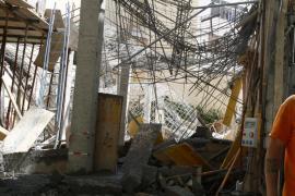 Cae una estructura de obra en Palma