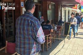 Campaña de control de la Policía Local sobre las terrazas de Palma