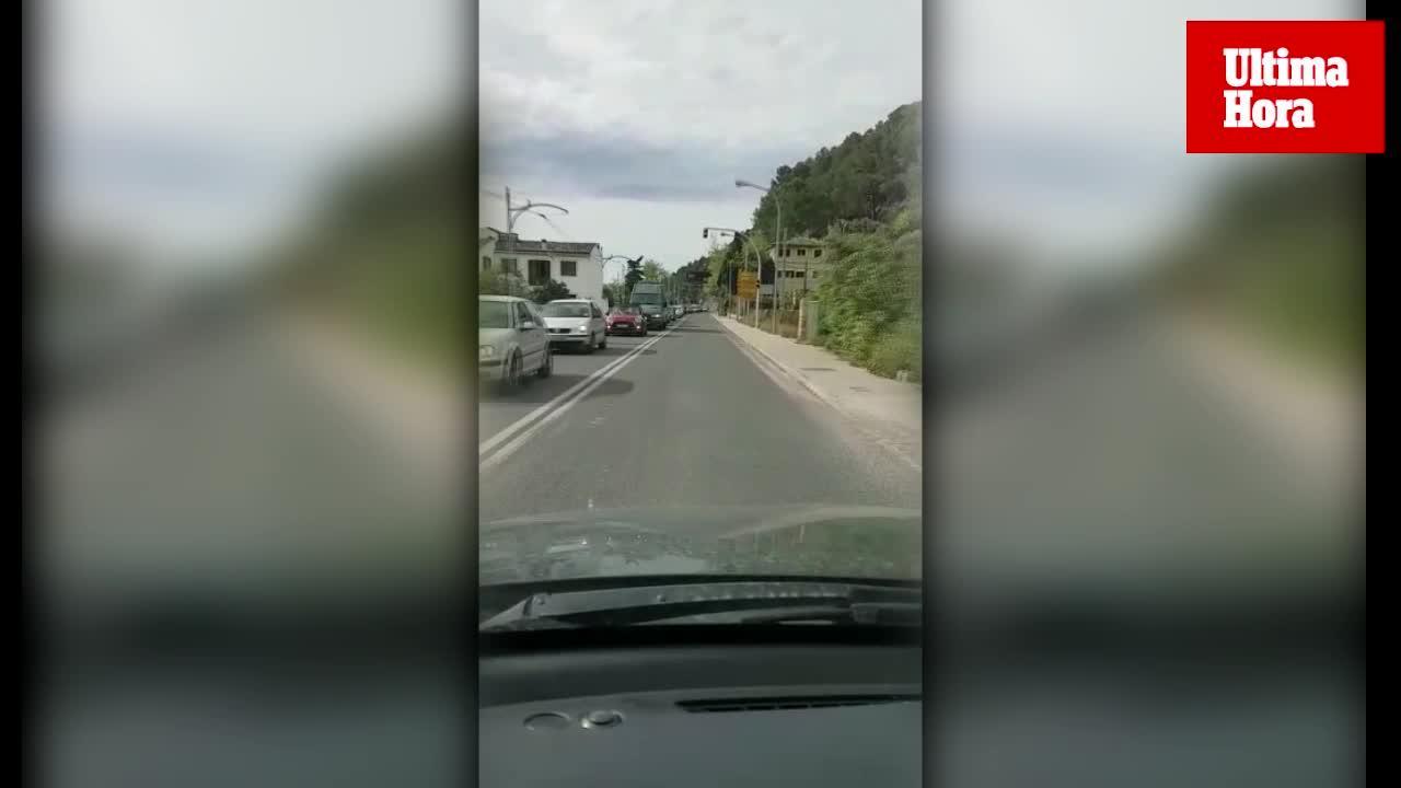 Una vecina de Sóller, indignada por los atascos tras la apertura del túnel