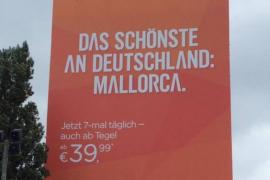 EasyJet sale al paso de las críticas y justifica su eslogan 'Lo mejor de Alemania: Mallorca'