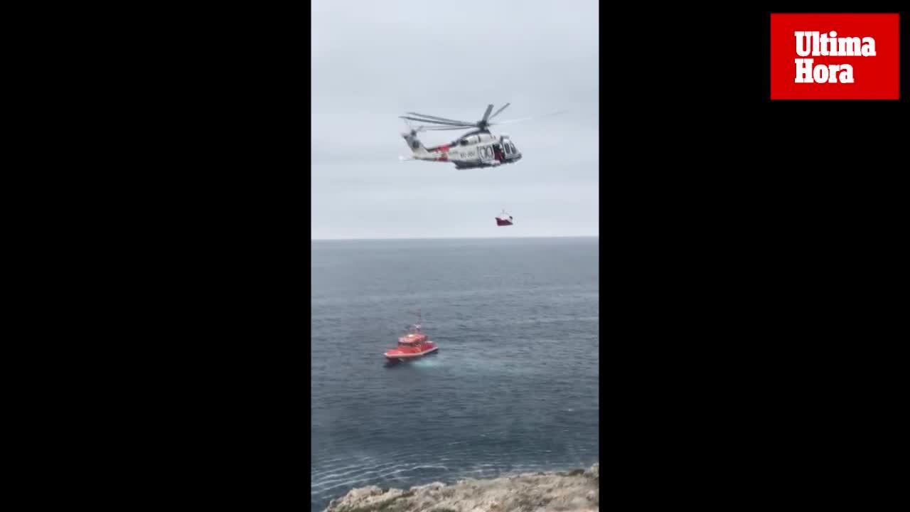 Rescatado un hombre que cayó desde una altura de 10 metros en Portocolom