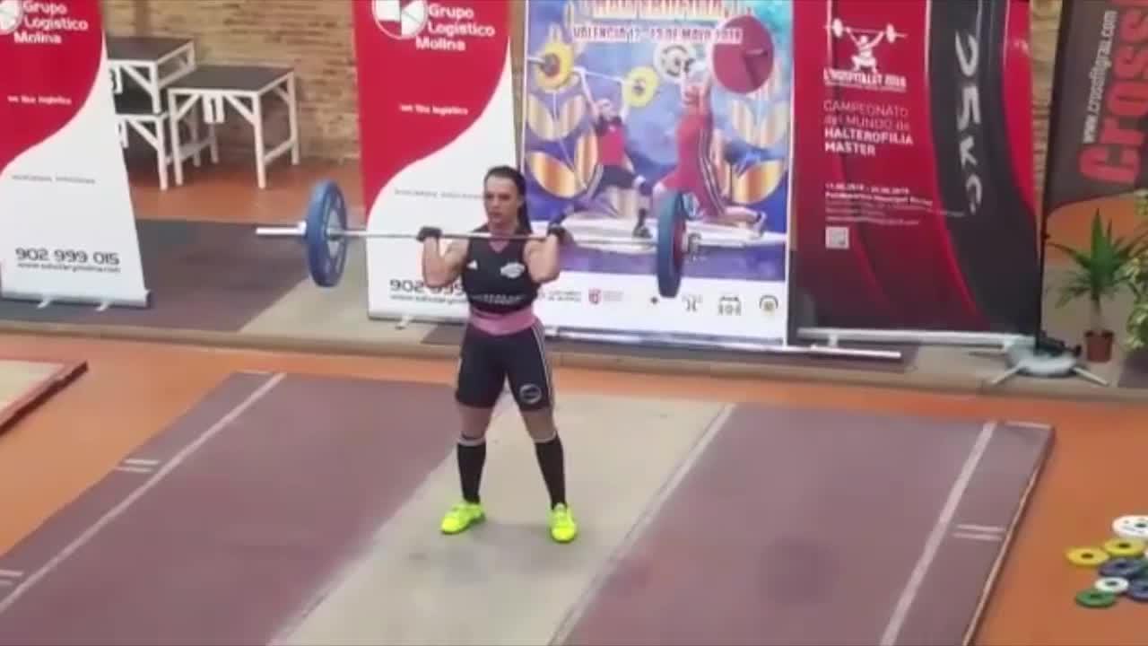 La mallorquina Fanny Palou, campeona de España de halterofilia