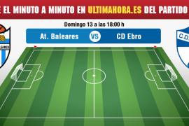 Atlético Baleares-Ebro, en directo