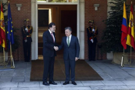 Rajoy y el presidente de Colombia apuestan por una solución plenamente democrática en Venezuela en su reunión en Moncloa