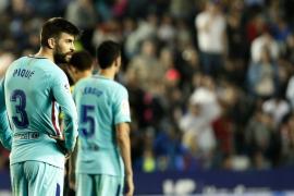 El Barcelona pierde su condición de invicto ante el Levante
