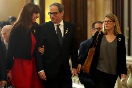 Quim Torra, en el Parlament catalán para someterse a la segunda vuelta de la investidura