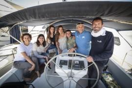 Usuarios de Projecte Jove, en la tripulación del velero 'Irifi'