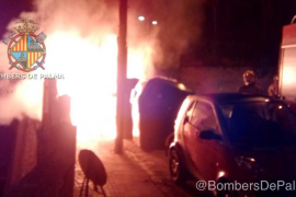 Arden seis contenedores de madrugada en Palma