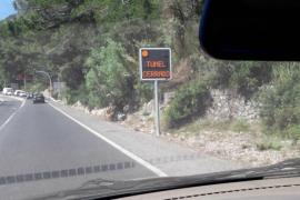 Un accidente provoca el cierre del túnel de Sóller