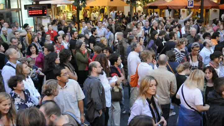 Unos 10.000 'indignados' se suman en Palma a las protestas globales del 15-0