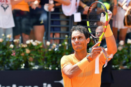 Nadal sufre ante Fognini pero ya está en semifinales de Roma, donde se medirá con Djokovic