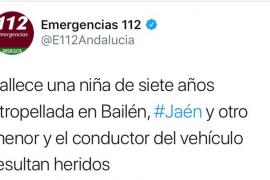 Muere atropellada una niña de 7 años en Bailén