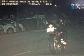 Imputado el dueño de la moto que circuló a 132 kilómetros por hora por el Paseo Marítimo de Palma