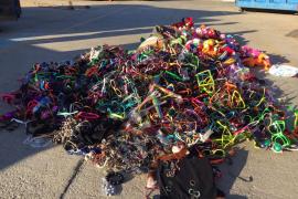 Destruyen 4.500 objetos decomisados en la venta ambulante en Llucmajor