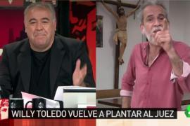 Willy Toledo a Ferreras: «Si una democracia mete en la cárcel a un rapero, yo me limpio el culo con esa democracia»