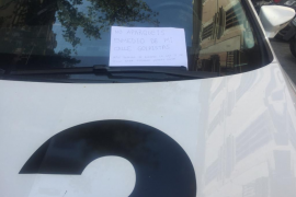 La nota amenazante que alguien dejó en el coche de la corresponsal de TV3 en Mallorca