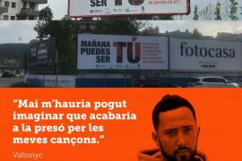 Valtonyc, Cuixart y otros investigados protagonizan la campaña 'Mañana puedes ser tú'