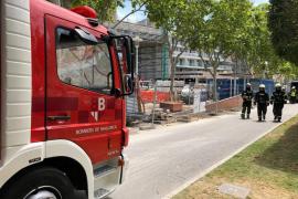 Fuga de gas en Magaluf tras perforar unos obreros una tubería