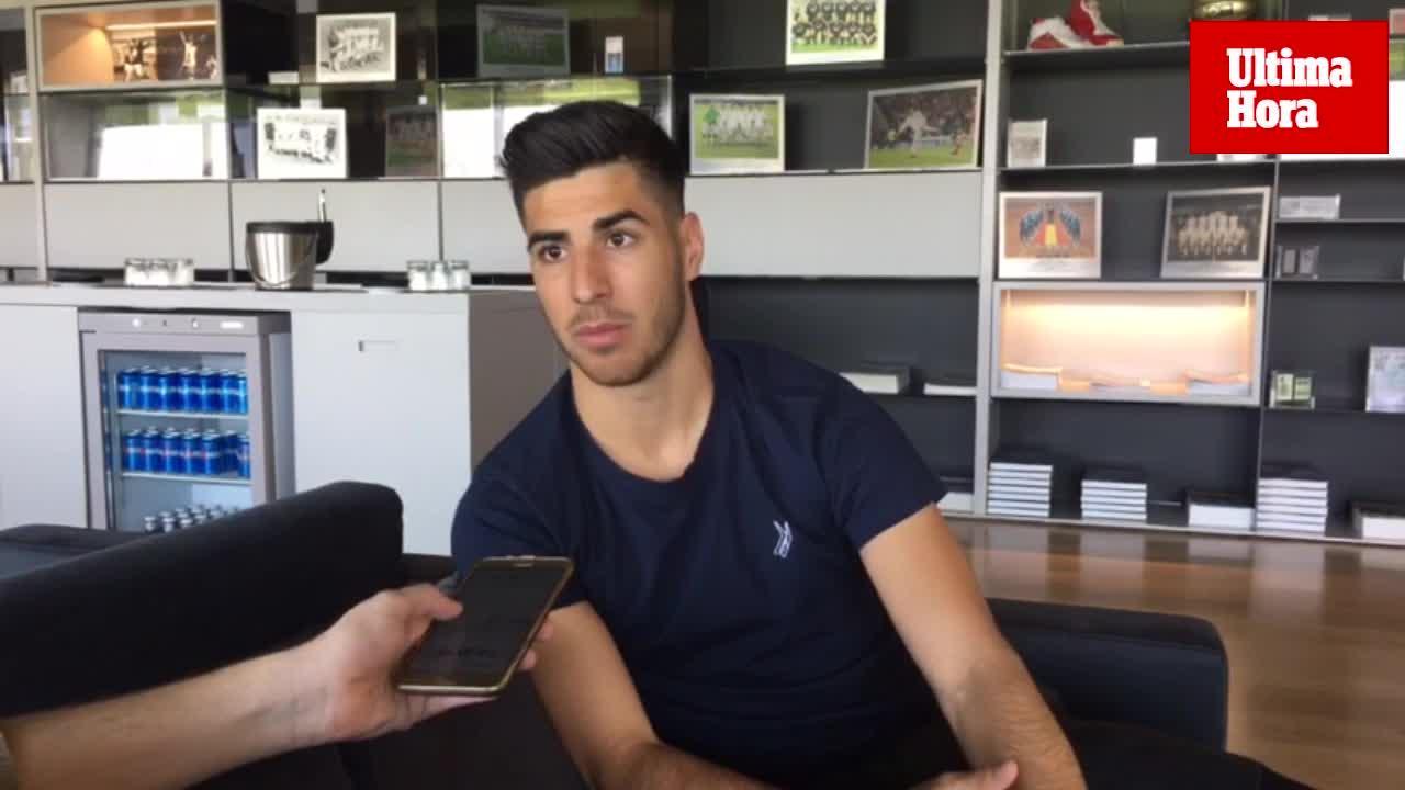 Marco Asensio: «Espero y deseo que tanto el Mallorca como nosotros cumplamos el objetivo»