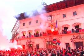 El regreso del Real Mallorca a casa tras la vuelta a Segunda División