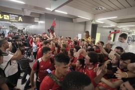 Celebración del ascenso del Real Mallorca a Segunda División
