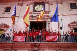 Celebración del ascenso del Real Mallorca a Segunda División.