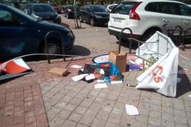 Destrozan una mesa informativa de Ciudadanos en Madrid