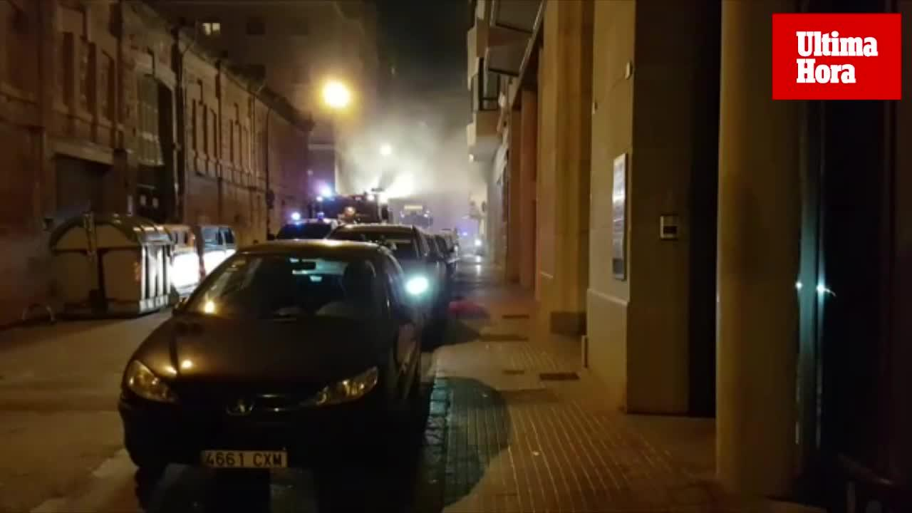 Dos heridos en el incendio del spa Hidrópolis de Palma