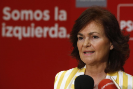 Carmen Calvo, vicepresidenta y ministra de Igualdad del Gobierno de Sánchez