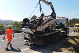 Jornada accidentada en las carreteras de Ibiza