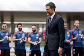 Pedro Sánchez anima a la selección española antes del Mundial
