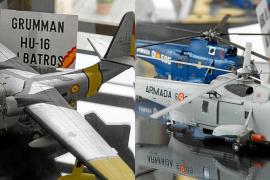 El Centro de Historia y Cultura Militar de Balears expone aviones y helicópteros que sobrevolaron la Isla
