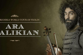 'The incredible world tour of violin' de Ara Malikian recala en Port Adriano