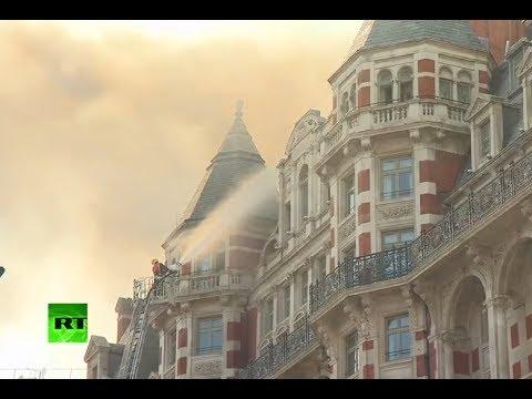 Cerca de 100 bomberos trabajan en el incendio del hotel Mandarin Oriental de Londres